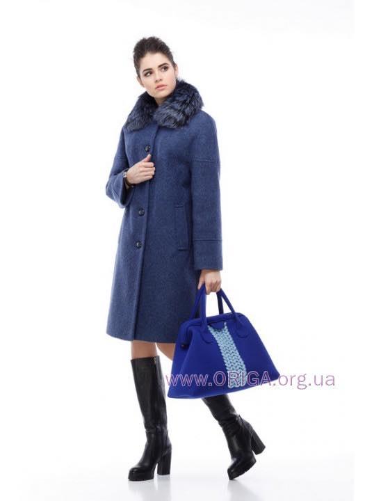 *  Зима VIP 2018! пальто ДОМЕНИКА, шерсть Италии, чернобурка натур., 46-54