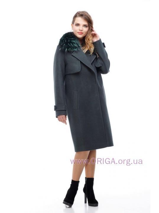 *  Зима VIP 2018! пальто ФЕЛИЦИЯ-2, шерсть, мех енот натур., 42-48