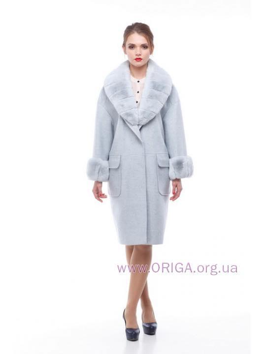 * ВЕСНА 2018! пальто МОНРО, шерсть Италии, кролик rex., 42-50
