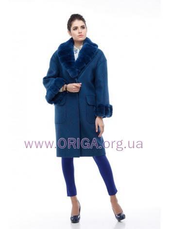 *  Зима VIP 2018! пальто МОНРО, шерсть Италии, кролик rex., 42-46