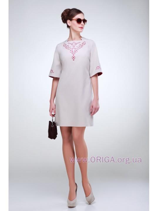 "платье ""Клеопатра"" василек, беж 48 р-ры"