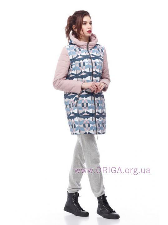 * Весна 2018-2019! женское полупальто/ куртка удл. ВЕСТА-принт, 42-54