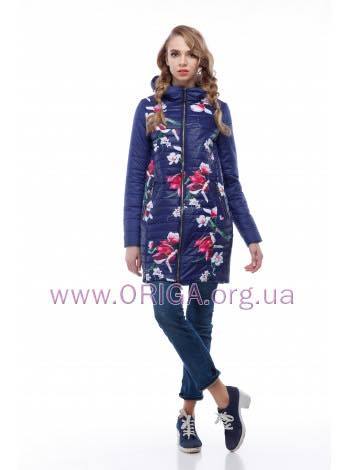 * New spring 2018! женское полупальто/ куртка удл. ВЕСТА-цветы, 42-54