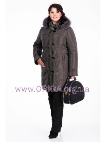 """50% скидка! зимнее пальто """"Беатрис"""" 50, т.коричневый"""