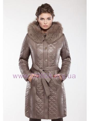 """*Супер цена! зимнее пальто """"ШАНЕЛЬ"""" длина 95-107см, меx песца, 50,54,56"""