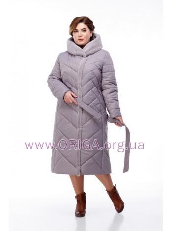 -15% от акционной цены дополнительно! Зима 2018-2019! пальто женское СИМА-светлые цвета, кролик 48-62