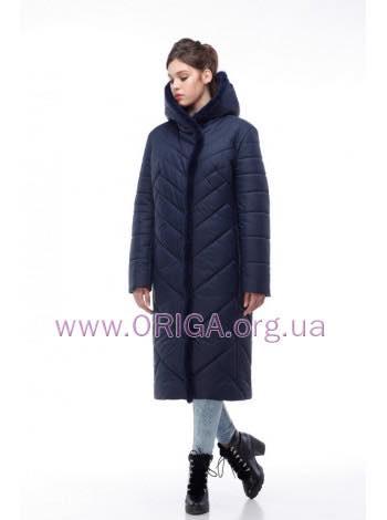 -15% от акционной цены дополнительно! Зима 2018-2019! пальто женское СИМА-темные цвета, кролик 48-62