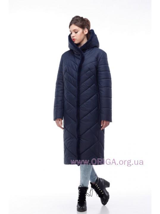 *супер скидки! Зима 2018-2019! пальто женское СИМА-темные цвета, кролик 48-62