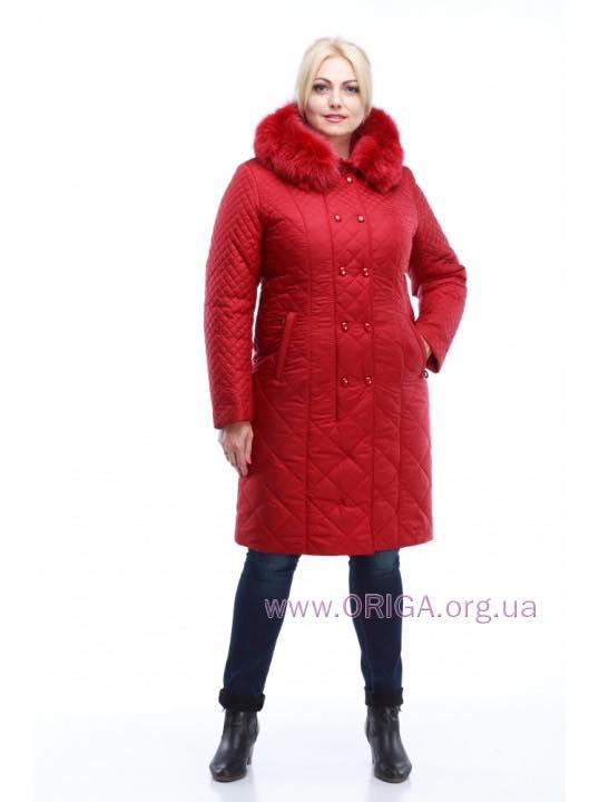 *Зимнее пальто женское «АННЕТ», меx песца 50