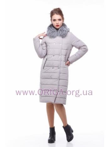 * Шок цена! пальто женское «КИМ-3», чернобурка, 54