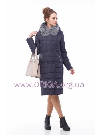 пальто женское «КИМ-1», песец/чернобурка, 44-54