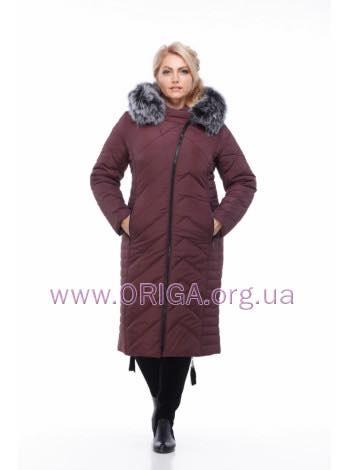 *Шок цена! пальто зимннее «МИРА-3», тройной хвост песца, 48-58
