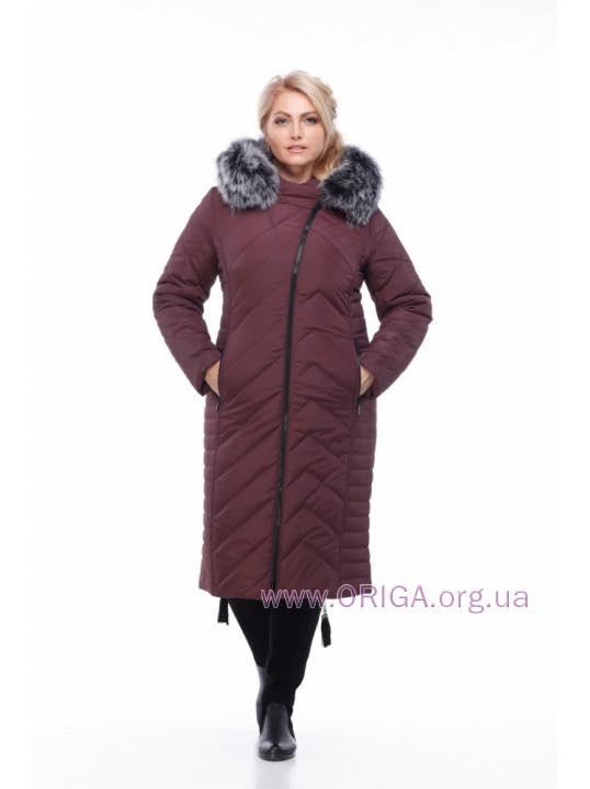 *Шок цена! пальто зимннее «МИРА-3», тройной хвост песца, 48,52