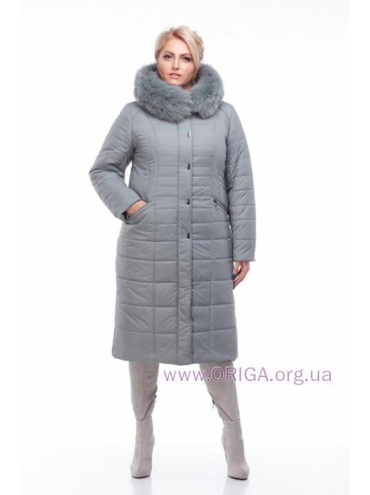 """пальто женское """"СОФИ-1"""", меx песца, 48-60 размеры"""